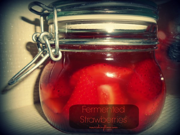 Lacto-fermented Strawberries