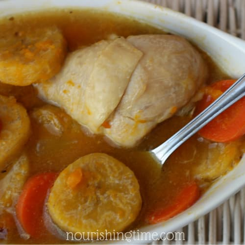 Bowl Of Jamaican Chicken Soup