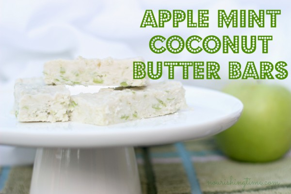 Apple Mint Coconut Butter Bars