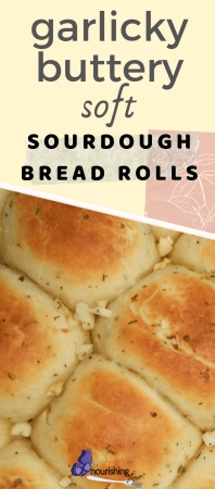 Garlicky Sourdough Dinner Rolls
