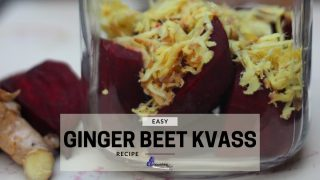 Ginger Beet Kvass - Grated Ginger With Chunks Of Beets