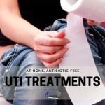Woman On Toilet Contemplating Natural Treatments For UTI
